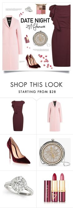 """""""Date Night"""" by frechelibelle ❤ liked on Polyvore featuring Anja, MaxMara, MSGM, Gianvito Rossi, Alexander McQueen, Wander Beauty, Stila, DateNight, ruffles and suedepumps"""