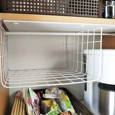 【工具不要!】「100均ワイヤーネット」で収納力をアップする Home Organization Hacks, Pantry Organization, Hacks Diy, Diy Room Decor, Home Decor, Clean Up, Diy Kitchen, Declutter, Wood Furniture