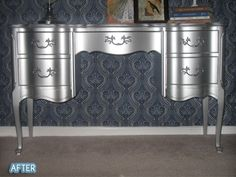WOW - using Rustoleum's metallic aluminum enamel paint by janelle