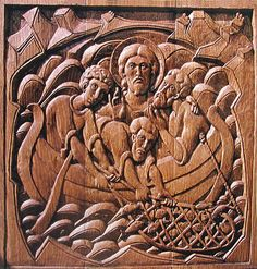 carved orthodox icon | Category: Orthodox Carving - Pageau Carvings