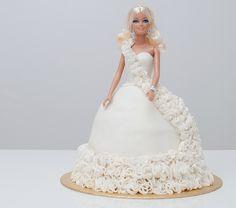 BARBIE cake with ruffled ball gown TUTORIAL  http://blog.mycakedecorating.co.uk/