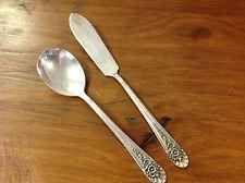 WM ROGERS MFG. CO.  IS. Siverplate Jubilee Pattern Butter Knife & Sugar Spoon