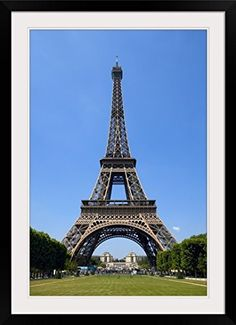 GreatBIGCanvas Eiffel Tower Paris France Photographic Print with Black Frame 24 x 36 ** Find out more about the great product at the image link.Note:It is affiliate link to Amazon.
