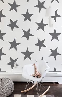 Twinkle, twinkle little star never looked so good! Featured in several of our absolute favorite nurseries, this new Lucky Star wallpaper will add gorgeous drama to any nursery or kids' room. All rolls