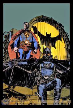 Batman/Superman steampunk by Tommy Lee Edwards