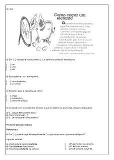110 ATIVIDADES PORTUGUÊS 6° ANO LÍNGUA PORTUGUESA EXERCÍCIOS TESTES AVALIAÇÕES PARA IMPRIMIR | PORTAL ESCOLA