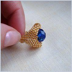 Pattern bijoux: Delica con turchese