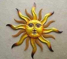 "Santa Fe Sun Face Wall Art Metal Sunburst Indoor Outdoor Southwest Hanging 29"""