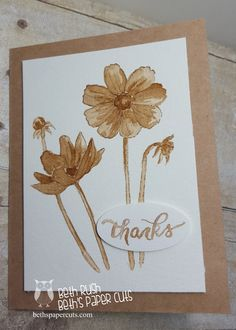 Beth's Paper Cuts: Cards Painted with Coffee