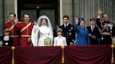 Princess Anne's wedding  14 November 1973    An estimated 500 million television viewers from around the world watched Princess Anne marry Captain Mark Phillips in Westminster Abbey. It was only the second time in more than 200 years that a member of the British Royal Family had married a commoner.    Photo: Princess Anne, The Princess Royal and Mark Phillips wave from the balcony of Buckingham Palace following their wedding, 14 November, 1973.