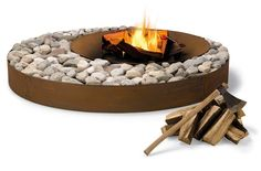 Mod firepit! Looks like this could be made with edging and some rocks from the creek.