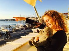 #TweedyTed our #Harristweed bear out in #Aegina #greece with his companion Lottie ❤️