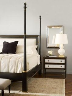 Century Archive Home and Monarch (MN5490K) BARRINGTON POSTER BED WITH UPH HEADBOARD - KING SIZE 6/6