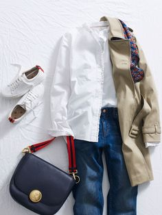 Spring Look Picture Description Well, I guess a cold snap isn't ALL Spring Fashion, Autumn Fashion, Boden Clothing, White Shirt And Jeans, Look Magazine, Spring Looks, Sheer Dress, Fashion Outfits, Fashion Trends
