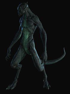 by Zac Berry Alien Concept Art, Creature Concept Art, Creature Design, Alien Creatures, Fantasy Creatures, Aliens, Demogorgon Stranger Things, Ufo, 70s Sci Fi Art
