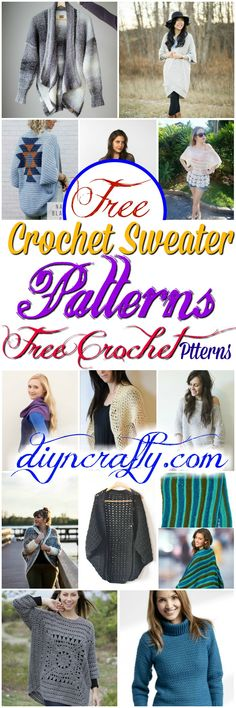 I have made a big list of most beautiful, adorable and stylish #crochet #sweater #patterns.All of these super unique and creative!