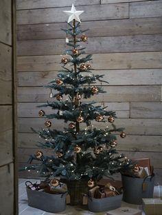 NEW Twelve Shiny Copper Baubles - Christmas