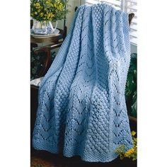 Free Knitting pattern for a fan afghan. Quick to knit afghan patterns and easy to knit free afghan knitting patterns. Afghan Crochet Patterns, Baby Knitting Patterns, Free Knitting, Simple Knitting, Knitting Ideas, Knitting Stitches, Cable Knit Blankets, Knitted Baby Blankets, Afghan Scarf