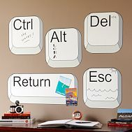computer wall decals - I would put the Esc on the door; the Del over the trash can, the Ctrl over the box where I keep the remote controls or by the thermostat, etc. Now that I think about it, these would be GREAT in a school library! Computer Lab Decor, Computer Lab Lessons, Computer Teacher, Computer Class, Computer Technology, Computer Science, Computer Basics, Teaching Computers, School Computers