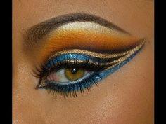 Egyptian Eye Makeup, Egypt Makeup, Cleopatra Makeup, Egyptian Party, Egyptian Costume, Cleopatra Costume, Nefertiti Costume, Egyptian Hair, Egyptian Fancy Dress