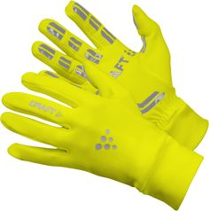 Craft handschoen Thermal Multi Grip geel bij Hardloopaanbiedingen.nl. Zeer opvallend, functioneel en warm! #hardlopen #hardloopaanbiedingen.nl