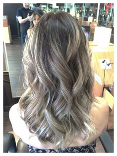 ombre ash brown with balayage ash blonde highlites by farlene