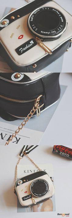 US$18.99+Free shipping. Women Bags, Crossbody Bag, Colorblock Zipper Bag, Vintage, Camera Shape. Shop now~