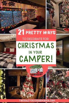These 21 ways to decorate your camper for Christmas are perfect for all rig sizes - from giant RVs to cozy travel trailers! Camping Car, Camping Crafts, Camping Tips, Decorating Your Rv, Camper Decorating, Travel Trailer Organization, Christmas Travel, Camper Life, Camping Supplies