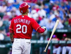 Texas Rangers center fielder Ian Desmond (20) throws a bat after striking out during the first inning of their game against the Houston Astros on Wednesday, June 8, 2016 at Globe Life Park in Arlington, Texas. (Ashley Landis/The Dallas Morning News)