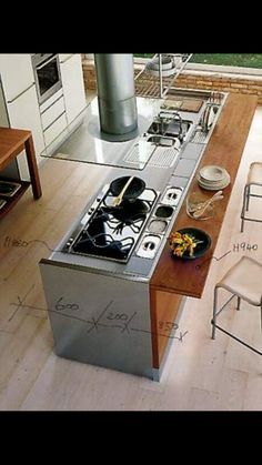 39 trendy kitchen island with seating sink stove Kitchen Island With Seating For 4, Kitchen Island With Cooktop, Sink In Island, Kitchen Benches, Cozy Kitchen, Kitchen Countertops, Kitchen Sink, Kitchen Wood, Kitchen Ideas