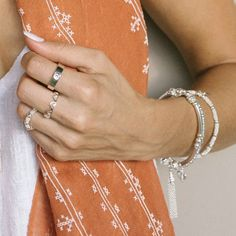 Annie Haak, the Award-winning jeweller, designs a variety of styles in Sterling Silver, Gold and Rose Gold, featuring precious stones. Unique Bracelets, Annie, Jewelry Sets, Bangles, Rose Gold, Pure Products, Sterling Silver, Crystals, Collection