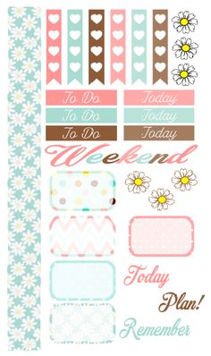 Dodo Charms: Daisy themed planner sticker kit