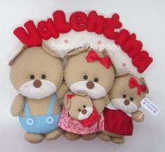 Família de Ursos com irmã Vermelho