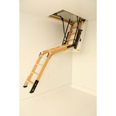 Best Folding Attic Stairs Hand Rail And Pulley System In 2019 Folding Attic Stairs Attic Stairs 640 x 480