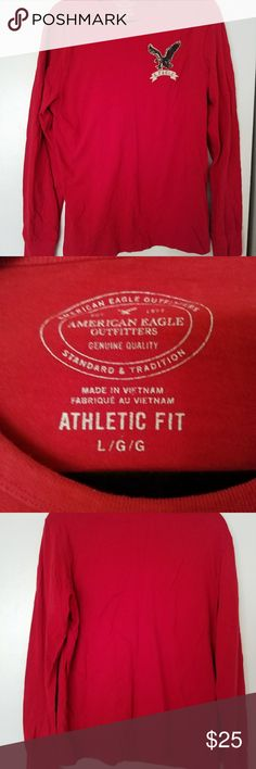 NWOT AE long sleeve tee never worn, 100%cottom super comfortable. American Eagle Outfitters Shirts Tees - Long Sleeve