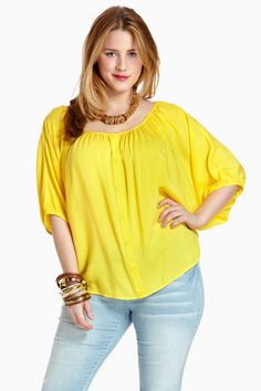 Attractive Yellow plus size dresses for women |