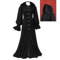 Hooded Velvet Coat
