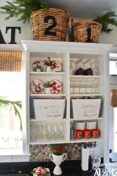 Home stories A to Z - open the bar cabinets and paint? Display our bar ware in a prettier style??