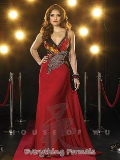Unique and Spectacular #Chiffon Two Straps Flare Long #PromGown by #Panoply Style 14347~ MSRP: $406.55 Guaranteed Low Price: $325.99 (You save $80.56) *This product is on SALE (http://www.everythingformals.com/Panoply-14347/)