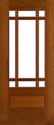 Beautiful 9 Lite Entry Door