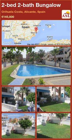 2-bed 2-bath Bungalow in Orihuela Costa, Alicante, Spain ►€145,000 #PropertyForSaleInSpain