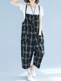 Contemporary Overall Dungarees - Eva Trends Funky Fashion, Hipster Fashion, Cute Fashion, Fashion Pants, Asian Fashion, Fashion Dresses, Cheap Fashion, Fashion Tips, Cool Outfits