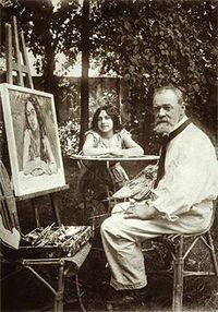 Ferdinand Hodler par Paul Bonzon, 1916