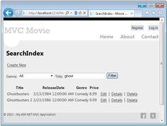 This tutorial will teach you the basics of building an ASP.NET MVC 4 Web application using Microsoft Visual Studio Express 2012