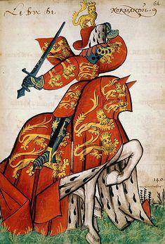 Le duc de Normandie, Grand Armorial équestre de la Toison d'Or, Flandres, 1430-1461.