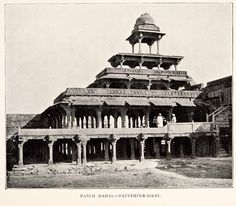 The Panch Mahal, Fatehpur Sikri, Uttar Pradesh - India Palace, Church Of Scotland, Archaeological Survey Of India, Cultural Architecture, Indian Architecture, Equestrian Statue, History Of India, Indian Temple, Hill Station