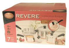 Revere 1042262 7 Piece Stainless Steel Copper-Clad Bottom Set >>> You can get additional details at the image link.