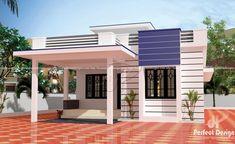 Small Modern House Plans, Modern Small House Design, Simple House Plans, Beautiful House Plans, House Outer Design, House Outside Design, House Front Design, Single Floor House Design, Village House Design