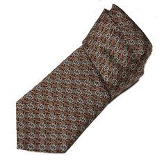Gucci Necktie Auriga Kaki Borde Interlocking G Woven Silk Tie for Men 351796