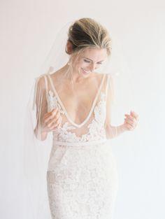 Inbal drop wedding dress | illusion